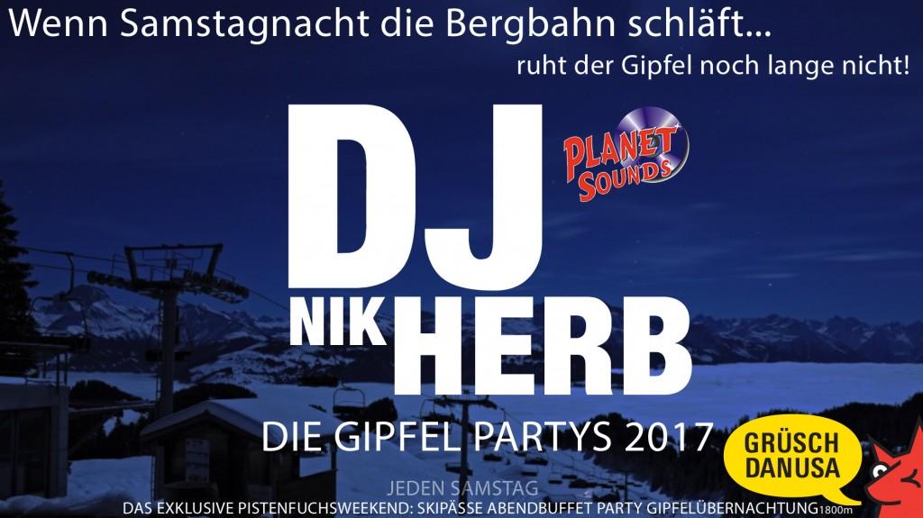 Gipfelpartys mit DJ NIK HERB